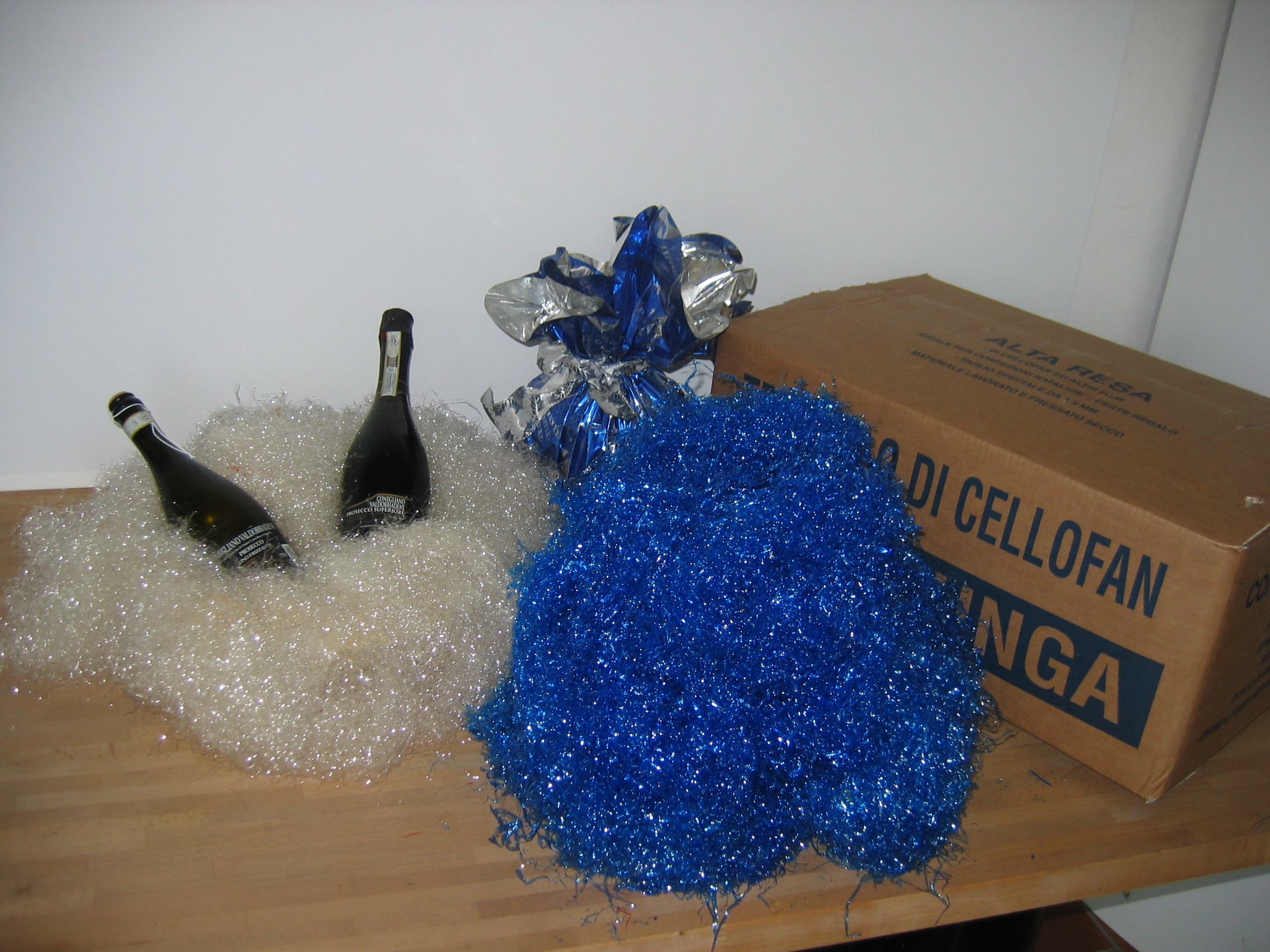 Truciolo di Cellophane Colorato Blu